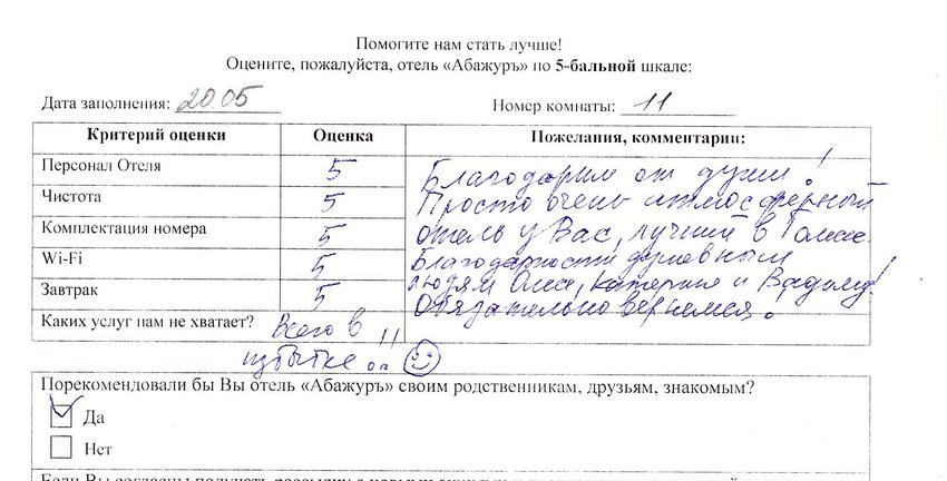 Reviews about Abazhur Hotel Tomsk