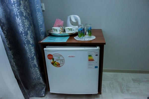 Холодильник с минибаром и чайными принадлежностями, номер 14, Абажуръ, Томск