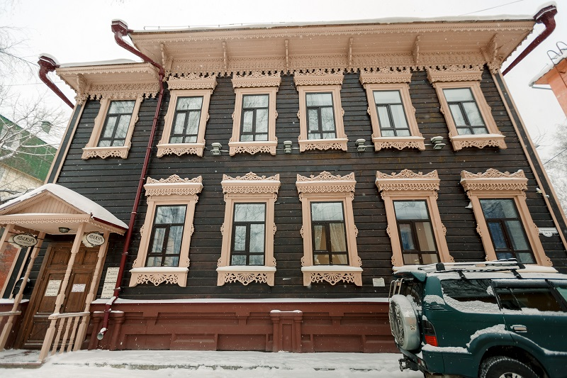 The historic mansion of the 19th century Abazhur Hotel Tomsk